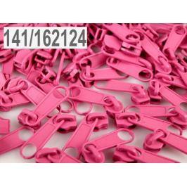 Bežec ku špirálovým zipsom 3 mm pre metráž typu POL Pink Carnation 10ks