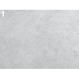 Novopast 60+18g/m2 šíře 90 cm netkaná textilia nažehlovacia White 180m