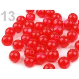 Plastové koráliky Mačacie oči Ø8 mm Fiery Red 200ks Stoklasa