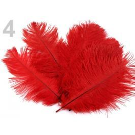 Pštrosie perie dĺžka 20 cm červená 10ks Stoklasa
