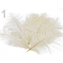 Pštrosie perie dĺžka 20 cm krémová najsvetl 30ks Stoklasa
