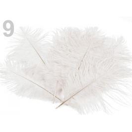 Pštrosie perie dĺžka 20 cm biela 30ks Stoklasa