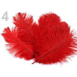 Pštrosie perie dĺžka 20 cm červená 30ks Stoklasa