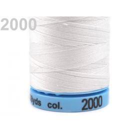 Bavlnené nite 400 m Etiketné č.50 Triana Amann White 5ks