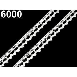 Bavlnená čipka paličkovaná šírka 9 mm White 30m