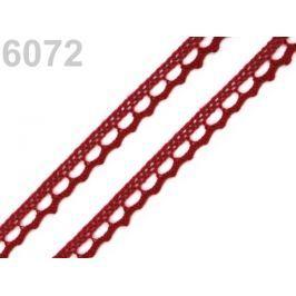 Bavlnená čipka paličkovaná šírka 9 mm Biking Red 30m