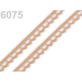 Bavlnená čipka paličkovaná šírka 9 mm Banana Crepe 30m