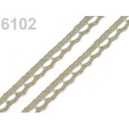 Bavlnená čipka paličkovaná šírka 9 mm Gothic Olive 150m