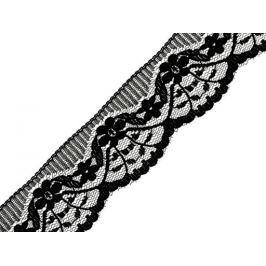 Čipka syntetická šírka 40mm Black 150m