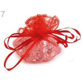 Darčekové vrecúško Ø 22cm organza červená 10ks Stoklasa