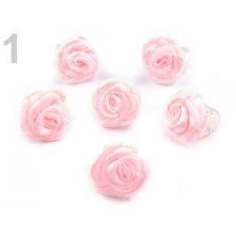 Štipec do vlasov 10x13-15 mm s ružičkou ELIS ružová sv. 10ks