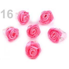 Štipec do vlasov 10x13-15 mm s ružičkou ELIS malinová 10ks