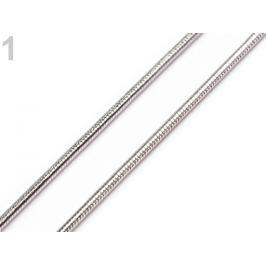 Retiazka hadia 0,1x43 cm platina 12ks Stoklasa