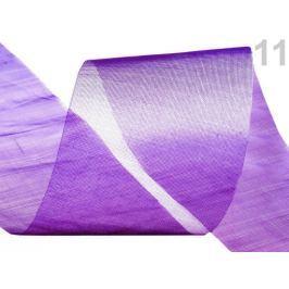 Stuha šifónová rezaná  šírka  50 mm Imperial Purple 23m Stoklasa