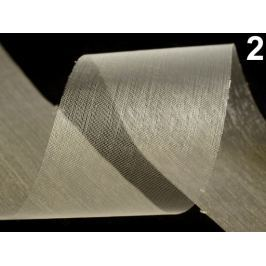 Stuha šifónová rezaná  šírka  50 mm Vanilla Ice 440m Stoklasa