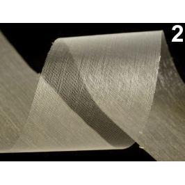 Stuha šifónová rezaná  šírka  50 mm Vanilla Ice 460m Stoklasa