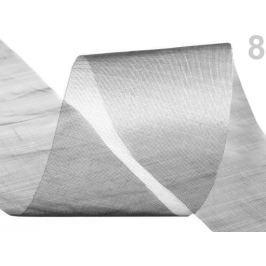 Stuha šifónová rezaná  šírka  50 mm Silver 460m Stoklasa