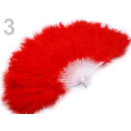 Vejár pérový veľký červená 9ks Stoklasa