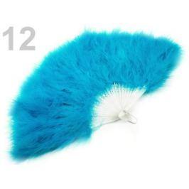 Vejár pérový veľký modrá tyrkys. 9ks Stoklasa