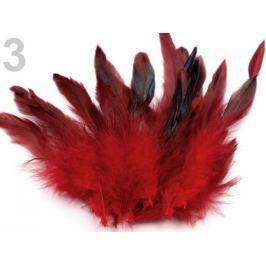 Slepačie perie dĺžka  6-15 cm červená tm. 1000ks Stoklasa