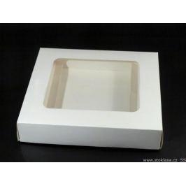 Krabica papierová s priehladom biela 50ks Stoklasa