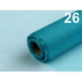 Organza šírka 36-37 cm zelený tyrkys 1ks