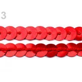 Flitre hladké, metráž šírka 6mm elastické červená  270m Stoklasa