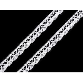 Čipka bavlnená šírka  10mm paličkovaná  ČESKÝ VÝROBOK White 30m