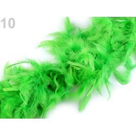 Boa - morčacie perie 60g dĺžka 1,8m rôzne farby zelená sv. 1ks Stoklasa
