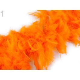 Boa - morčacie perie 60g dĺžka 1,8m rôzne farby oranžová   1ks Stoklasa