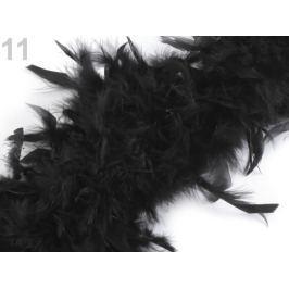 Boa - morčacie perie 60g dĺžka 1,8m rôzne farby čierna 1ks Stoklasa