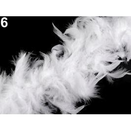 Boa - morčacie perie 60g dĺžka 1,8m rôzne farby biela 1ks Stoklasa