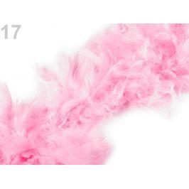 Boa - morčacie perie 60g dĺžka 1,8m rôzne farby ružová ostrá sv. 1ks Stoklasa