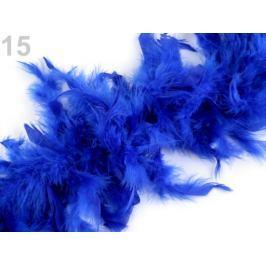 Boa - morčacie perie 60g dĺžka 1,8m rôzne farby modrá královská 1ks Stoklasa