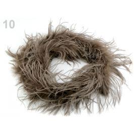 Boa - pštrosie perie 30g dĺžka 2m hnedá sv. 1ks Stoklasa