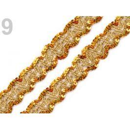 Prámik flitrový šírka 20 mm Inca Gold 13.5m Stoklasa