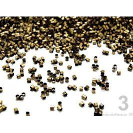 Zamačkávací rokajl Ø2 mm staromosadz 285g Stoklasa