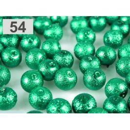 Voskované perly vrúbkované Ø 12mm zelená smaragdová 660ks Stoklasa