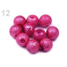 Voskované perly vrúbkované Ø8 mm ružový oleander 700ks Stoklasa