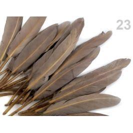 Kačacie perie dĺžka 9-14 cm šeď prachová  10sáčok Stoklasa