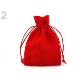Darčekové vrecúško 8,5x11 cm zamatové červená 10ks Stoklasa