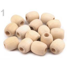 Drevené koráliky nelakované oválik 18x20 mm breza 500ks Stoklasa