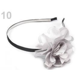 Kovová čelenka do vlasov s kvetom šedá najsv. 12ks Stoklasa