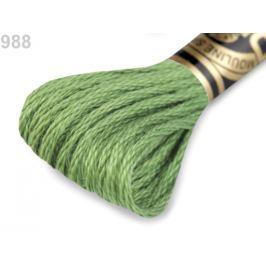 Vyšívacia priadza DMC Mouliné Spécial Cotton Fluorite Green 1ks