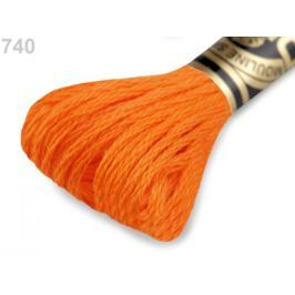 Vyšívacia priadza DMC Mouliné Spécial Cotton oranžová str. 1ks
