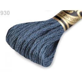 Vyšívacia priadza DMC Mouliné Spécial Cotton modrošedá tm. 1ks