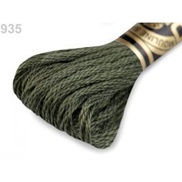 Vyšívacia priadza DMC Mouliné Spécial Cotton olivová tm. 1ks