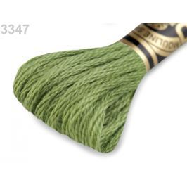 Vyšívacia priadza DMC Mouliné Spécial Cotton zelená stepná 1ks