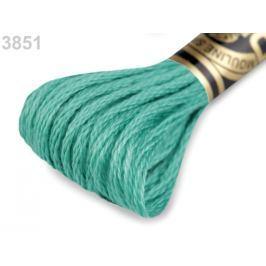 Vyšívacia priadza DMC Mouliné Spécial Cotton zelená vianočná 1ks
