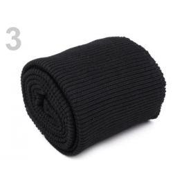 Elastické úplety šírka 7 cm sada (2x rukáv, 1x pás) čierna 1sada